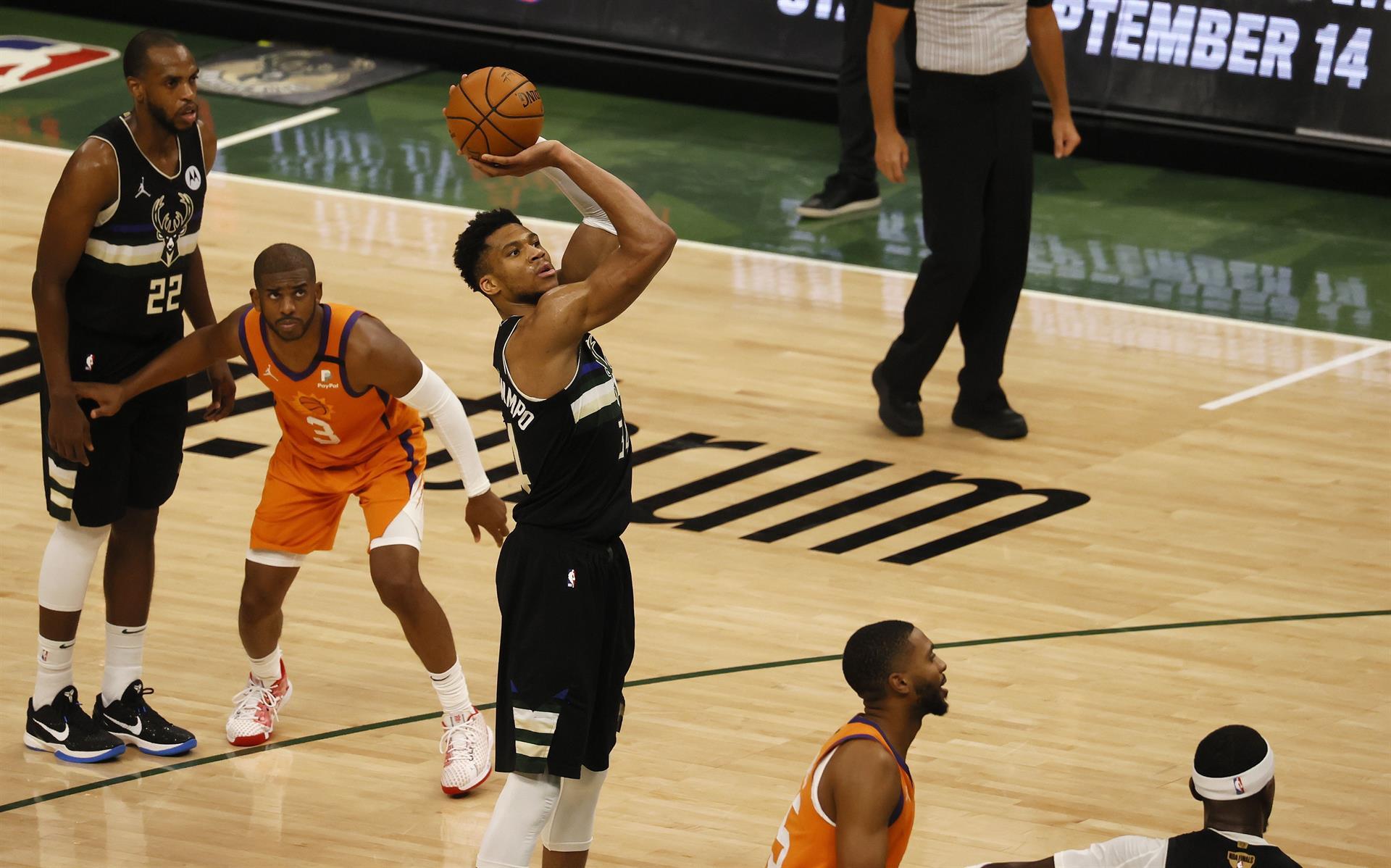 Giannis Antetokounmpo, el MVP de las Finales de la NBA 2021